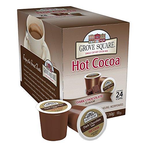 Grove Square Hot Cocoa Dark Chocolate, 24 Single...