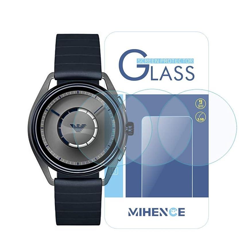 トースト帝国広々とした(3枚) [エンポリオ アルマーニ] Emporio Armani Smartwatch 保護フィルム,MIHENCE 9H ガラス保護フィルム 対応 Emporio Armani Touchscreen (ART5007 / ART5008 / ART5009 / ART9005) スマート腕時計 2.5Dラウンドエッジ ウォッチ指紋防止保護膜