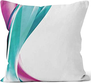 Nine City Abstract Wave Template brochure Design Throw Pillow Cushion Cover,HD Printing Decorative Square Accent Pillow Case,28