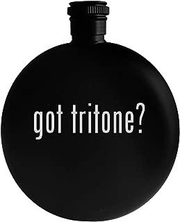 got tritone? - 5oz Round Alcohol Drinking Flask, Black