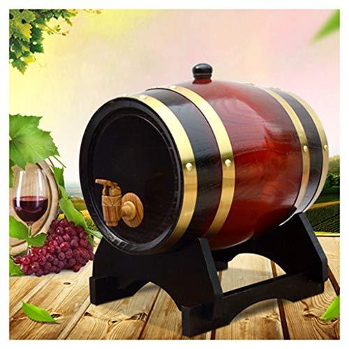 Barril de Roble Barril de Vino Barril de Hogar 1.5L / 3L / 5L / 10L Barril de roble, Barril de whisky de vino, Dispensador de barril de roble vintage (con grifo) (Size : 3L)