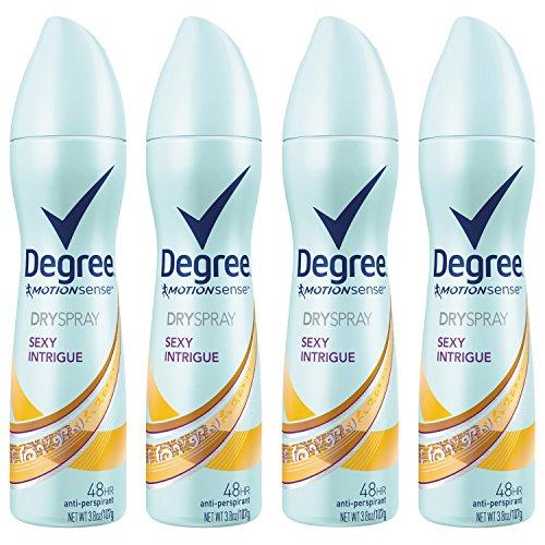 Degree Women MotionSense Antiperspirant Deodorant Dry Spray, Sexy Intrigue, 3.8 oz, 4 count