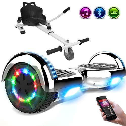 RCB elettrico Scooter elettrico con Hoverkart Go-Kart Costruito in luci a LED Bluetooth Speaker regalo per bambini e adulti ruote 6.5 '' Regalo di Natale