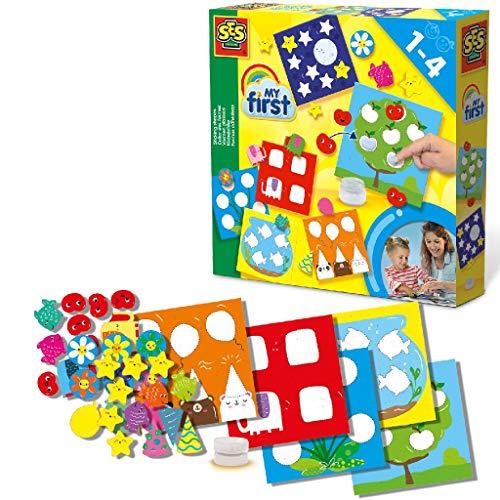 SES Creative 14428 My First - Klebebilder Klebeform, Diverse Farben