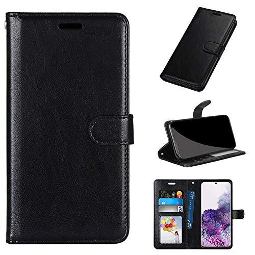 GARITANE Hülle Kompatibel mit LG G7 ThinQ/G7+ ThinQ/G7 One/G7 Fit,Handyhülle Hülle mit Magnet Kartenfächer Schutzhülle Retro Lederhülle (Schwarz)