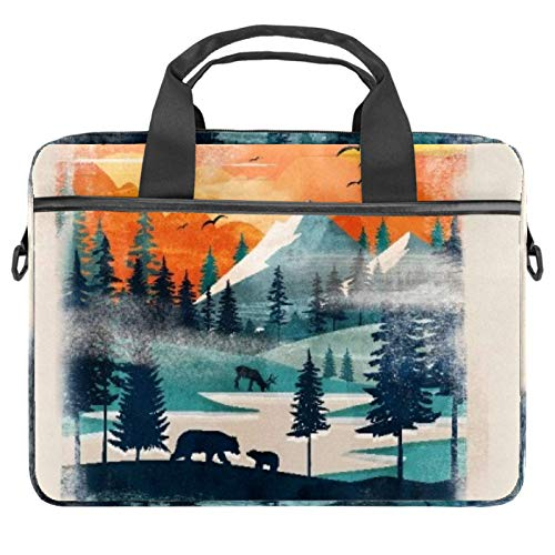 Laptop Bags, Cases and Sleeves for Business Commuting, Professional Travel and Laptop Protection for up to 13.4' - 14.5' Notebooks Warmth Painting