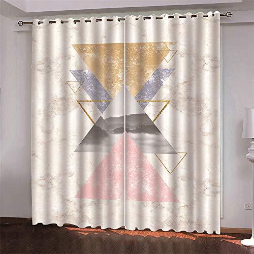 MMHJS Cortinas Opacas 3D Cortina De Impresión Digital 2 Piezas De Cortinas Adecuadas para Dormitorio, Sala De Estar Y Balcón