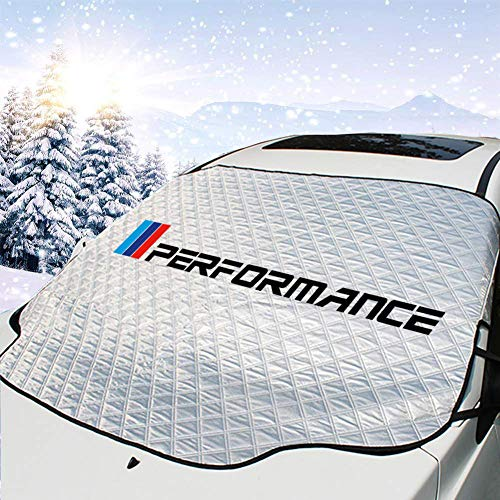OYADM Car Windshield Snow Ice Cover, Car Windshield Protection for Snow, Ice, Sun, Frost Defense, 4 Layers Windshield Winter Cover Fits