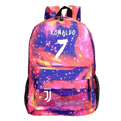 ZEH Football Strar Cristiano Ronaldo Backpack CR7 Rucksack Students School Bags Kids Boys Girls Gift New Bags Fashion Mochila 8 FACAI (Color : 6)