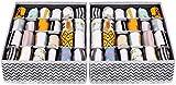 joyoldelf - Caja de Almacenamiento Plegable para cajones - 2 Paquetes - 24 Compartimentos -...
