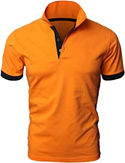 Men's Personality Short Sleeve Shirts Summer Fashion Casual Solid Color Pullovers Shirt Classic Polo Shirt