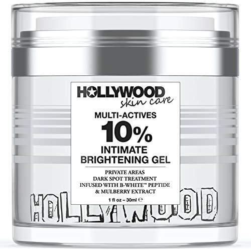 Intimate Skin Lightening Gel for Body, Face, Bikini and Sensitive Areas - Skin Lightening Cream for Intimate Areas - Underarm Skin Bleaching Cream with Advanced Ingredients B-White Peptide, Kojic Acid, Niacinamide, Alpha Arbutin - 1 oz