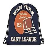 Light Ing Mochilas con cordón Bolsas New York Brooklyn Football Tipografía Set
