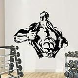 wZUN Pegatinas de Pared Creativas para Fitness, Pegatinas de Pared para Gimnasio, Gimnasio, decoración del hogar, extraíble 42X36cm