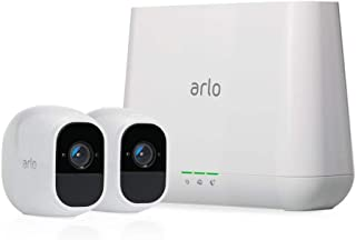 Arlo Pro 2 VMS4230P-100NAR Wireless Home Security Camera System with Siren, Rechargeable, Night Vision, Indoor/Outdoor, 1080p, 2-Way Audio, Wall Mount, 2 Camera Kit, White (Renewed)