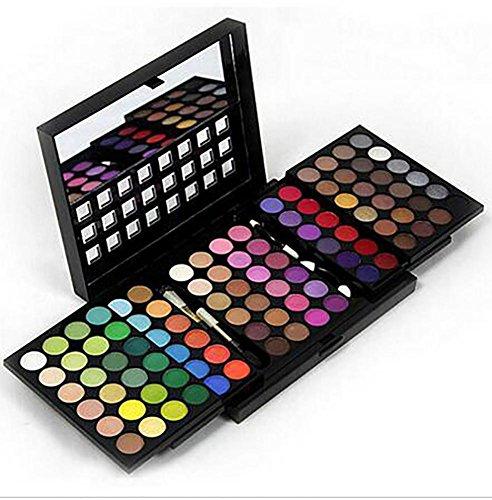 Professional 96 Couleurs Ombre à paupières Palette Trois couches Push-Pull Type Maquillage cosmétiques Maquillage d'ombre Ensemble de maquillage Set Set avec miroir et brosse