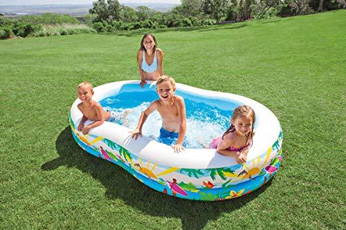"Intex 103"" x 36"" x 18"" Swim Center Inflatable Paradise Seaside Kid Pool (2 Pack)"