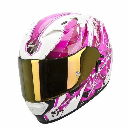 Scorpion - Casco de moto EXO-1200Air con calota exterior de fibras de tricomposite, multicolor, referencia 45-162-132-02