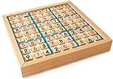Mopoq Holz Sudoku Game Adult Logic Denken Jiugongge Sudoku Schach Early Childhood Education Puzzle Brettspiel Spielzeug 23x23x3.8cm Kinder pädagogisches Spielzeug