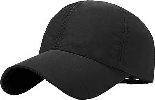 Hisoul Unisex Quick Drying Lightweight Baseball Cap Outdoor Sport Running Adjustable Baseball Mesh Hat (♥ Black)