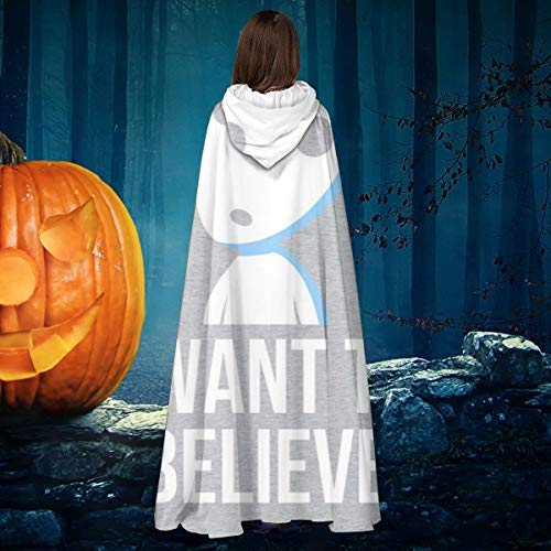 NULLYTG Believe In Spirits Studio Ghibli - Disfraz de Bruja con Capucha Unisex para Halloween