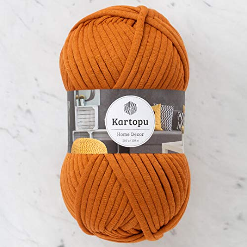 1 Strang Kartopu Home Decor, 70% Baumwolle 30% Polyamid, 200g/120m weich, Garngewicht: 7 Jumbo (Ziegelstein-K1834)