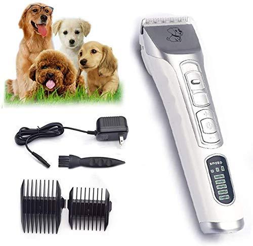 Pelo tijeras de corte Tool Kit de herramientas eléctrico Clippers Clippers for perros mascotas Inalámbrico perro Trimmer y estética for mascotas profesional for Perros Gatos Animales pelo tijeras de c