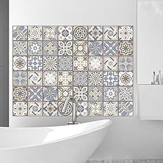 Garneck Adesivi per Pavimenti Floreali Vintage 3D Adesivi per Pavimenti Autoadesivi Adesivo per Pavimenti Impermeabile Antiscivolo per Piastrelle per La Cucina Del Bagno di Casa