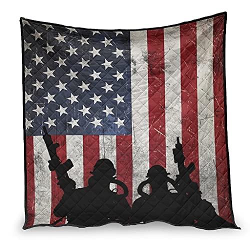 Huffle-Pickffle Navy Seals der United Air Conditioner Quilt Quilt Made - Colcha fina para leer, diseño marino de Estados Unidos, 180 x 200 cm, color blanco