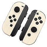Nintendo Switch ジョイコン 用 スキンシール カバー シール ケース 木目調 高級素材 側面対応 丈夫で長持ち 保護 アイボリーウッド 高級感のある手触り 簡単に貼り付け可能 ニンテンドースイッチ (アイボリーウッド)