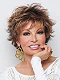 Voltage Avg Cap Wig Color R28S+ GLAZED FIRE - Raquel Welch Wigs Short Textured Layers Wispy Bangs Synthetic Women's Memory Capless Flared Neckline