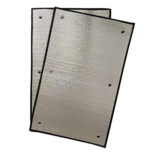 GDMING Flexibler Sonnenschutz Balkon Hitzeschutz-Markise Temporäre Dachfenster Hitzeschutz Für Innenräume Überdachung Zum Garagen Markise Vereiteln, 14 Größen (Color : Silver, Size : 60x75cm)