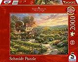 Schmidt Spiele- Thomas Kinkade, In den Weinbergen - Puzzle (2000 Piezas), Color carbón (59629)