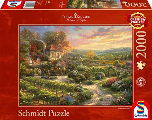 Schmidt Spiele Puzzle 59629 Thomas Kinkade, In den Weinbergen, 2000 Puzzle Teile, bunt