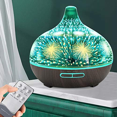 TTLIFE Aroma Diffuser 400ML Humidifier Ultrasonic Fragrance Lamp Mit 7 LED-Leuchten mit variabler Farbe und Fernbedienung Aromatherapie Diffusor für Yoga Salon Spa Wohnzimmer Badezimmer