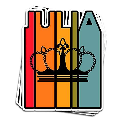 Julia Aufkleber, Geschenkidee für Mädchen und Damen, Vornamen, Vintage-Stil, 7,6 x 10,2 cm, gestanzt, für Laptop, Fenster, Auto, Stoßstange, Helm, Wasserflasche, 3 Stück