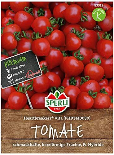 Sperli Premium Tomaten Samen Heartbreakers Vita ; schmackhafte, herzförmige Cherrytomaten ; Tomaten Saatgut