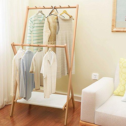 YONG FEI Real Wood Coat Rack Chambre Hanger Atterrissage Simple Moderne Intérieur Vêtements Rack Creative Hanger Taille: 150x80x58cm Meubles