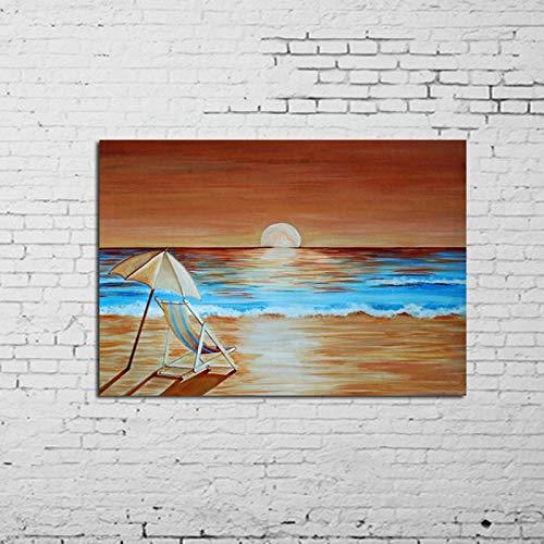 MAOYYM1 100% Handgemaakte Kunst Abstract Landschap Olie Schilderen Op Doek Handgemaakte Strandstoel Schilderen Voor Muur Kunstwerken Geen Inlijsten (alleen canvas) 32X52Inch