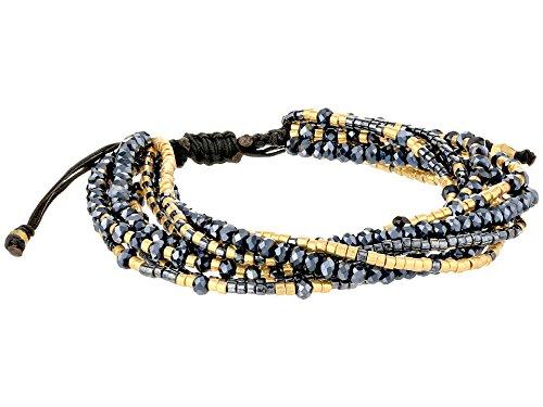 Chan Luu Black Mix Multi-Strand Bracelet Pull-tie Cord