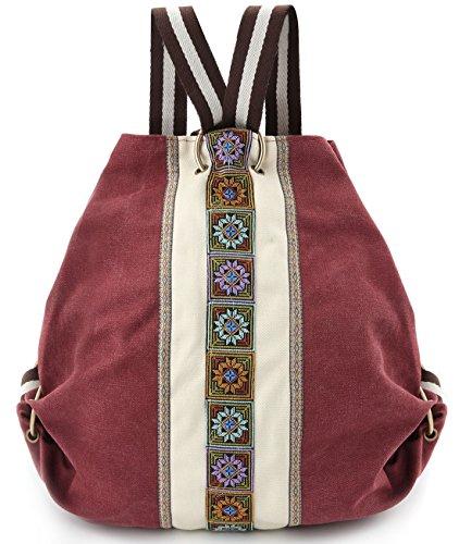 women canvas backpack purse