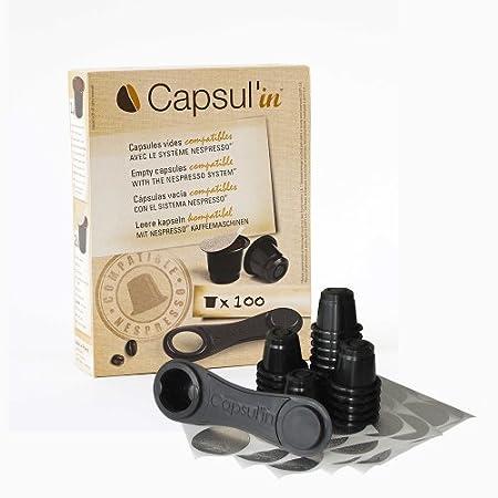Capsul'in Kaffeekapseln für Nespresso ® Befüllbare Alternative für Nespresso®