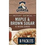 Quaker Avena instantánea de arce y azúcar moreno avena 8 ct 344 g/12.1oz Importado de Canadá}