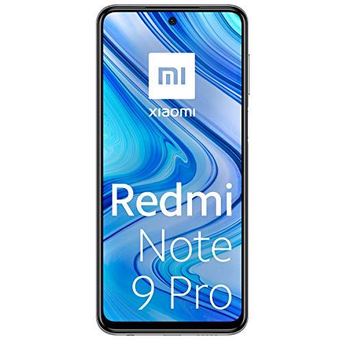 """Xiaomi Redmi Note 9 Pro - Smartphone de 6.67"""" (6 GB RAM, 64 GB ROM, cámara AI Quad de 64 MP, batería de 5020 mAh) Glacier White [Versión Internacional]"""