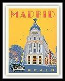 FIKR Madrid Spanien Espana Reise-Poster Metallschild