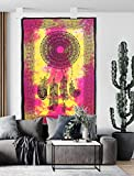 Marubhumi Dream Catcher Tapestry Psychedelic Bohemian Feather Wall Tapestry for Bedroom Decor (Multi-4, Poster (30X40 inches))