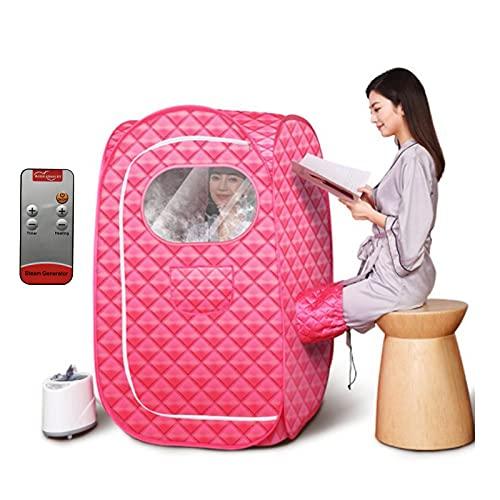 LONGLAN 2L SPA Dampfsauna Maschine, Fernbedienung Temperatur 9 Ebene Persönlich Zuhause Saunazelt Zum Gewichtsverlust Reduzieren Stress Und Ermüden GJXJY