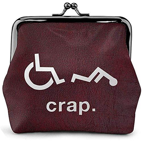 Damen Geldbörse Crap Handicap Lustige Rollstuhl Münze Geldbörse Kuss Schloss Wechselbeutel Vintage Verschluss Verschluss Schnalle Brieftasche Frauen Geschenk