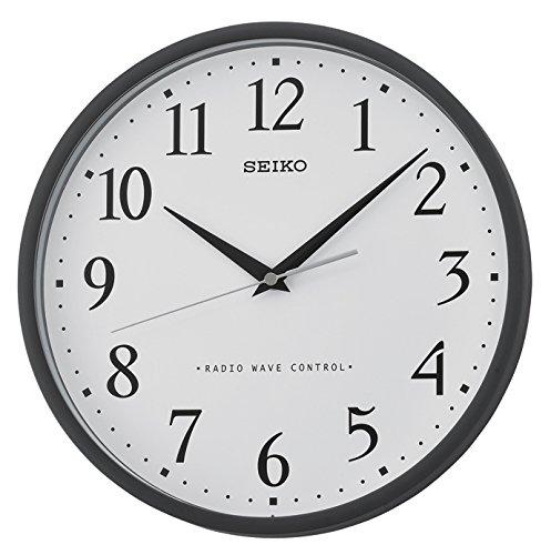 Seiko Funkwanduhr schwarz Kunststoff QXR210K