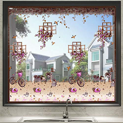XGYUII Fliegengitter, magnetisch, Fliegengitter mit Fenster, Fliegengitter, weich, für Fenster aus Gaze, Fenster, Fliegengitter mit Klebeband, braun, 120 * 130cm